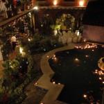 Reception courtyard