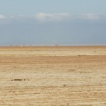 The empty lake bed