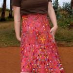 Kim's wedding skirt
