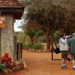 At the entrace to Tsavo West