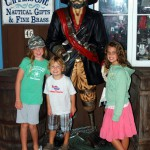 Posing with the pirate