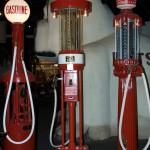 Old school gas pumps