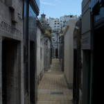 Streets in the cemetery