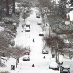 11th Avenue is closed for sledding