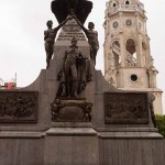 Plaza Bolivar and a church