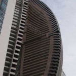 Trump sail-shaped building