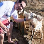 Dave and a goat